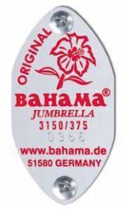 Bahama_Jumbrella_Seriennummernplakette